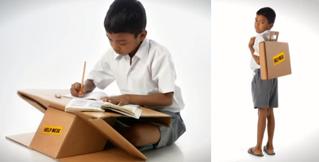 Portable desk Doubles As A Book Bag | Aarambh