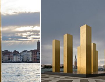 Gold Columns at the Venice Biennale | H. Mack