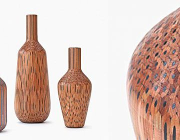 Vases Constructed from Hundreds of Pencils
