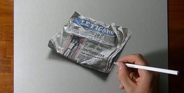 Realistic timelapse drawings | Marcello Barenghi