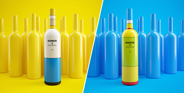 The Simpsons Wine Packaging | C. Bolimond & D. Patsukevich