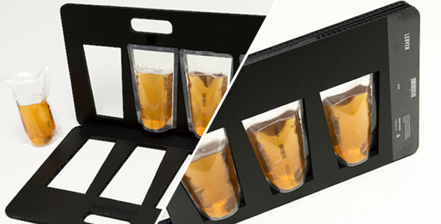 Beer Bag Briefcase transforms the classic 6-pack