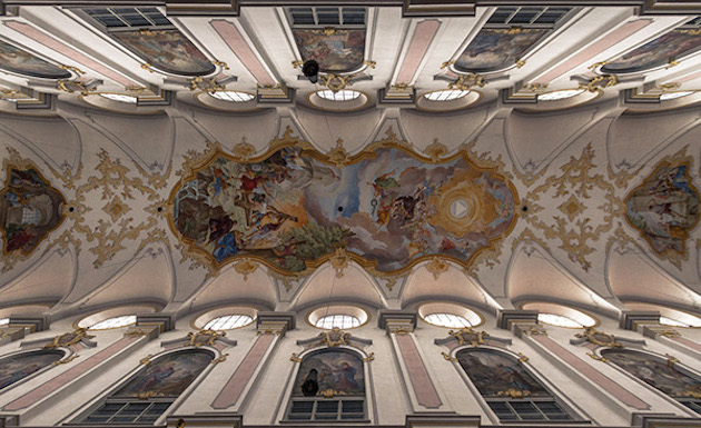 Churches ceilings in Rome by Silvio Medeiros