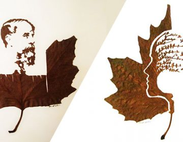 Hand cut leaf artwork | Omid Asadi