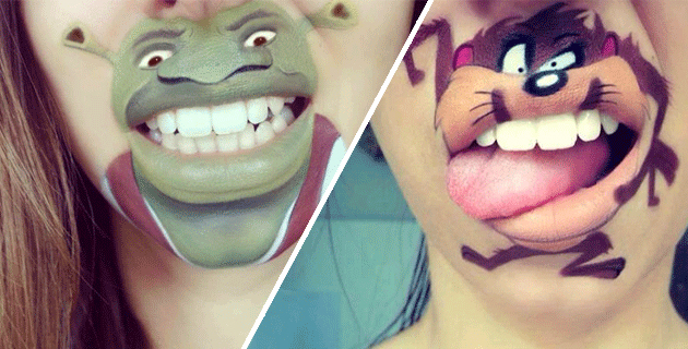 Creative mouth art by Laura Jenkinson