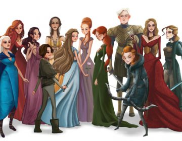 "Illustrations Of Women From ""Game Of Thrones"""