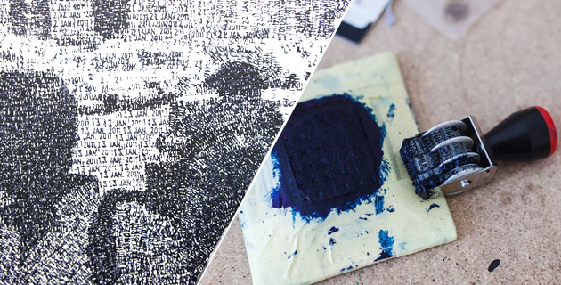 Date Stamp Pointillism Paintings by Federico Pietrella