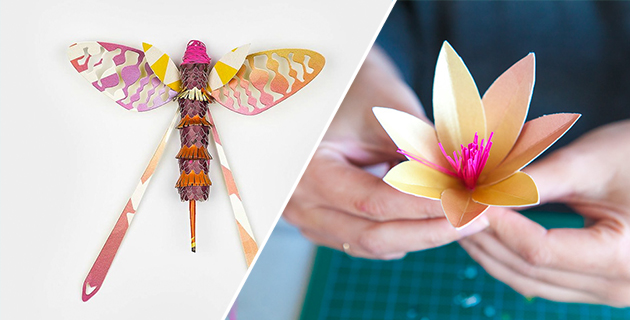 Recycled Paper Flower & Insects for IGEPA Brochure