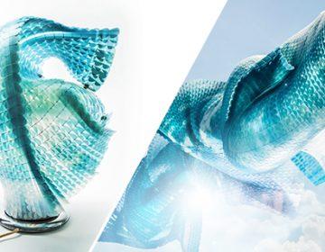 Morphing organic fabric art | Laokoon & Enso Lamp