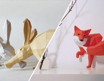 Paper Craft Animals | PaperWolf