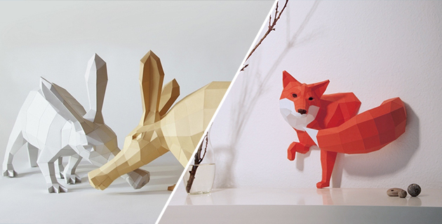 Paper Craft Animals | PaperWolf