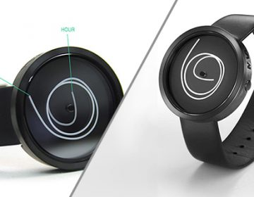 A watch with 'Squiggly' hands | Ora Unica