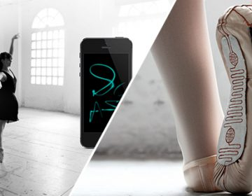 Electronic Slippers Turn Dancer's Movements into Digital Paintings | L. Trubat