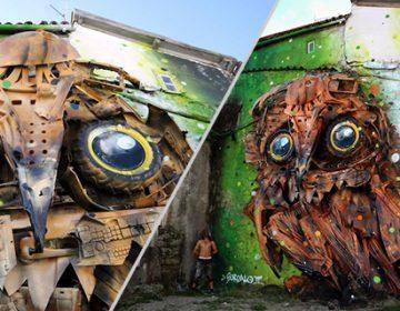 Recycled Street Art | Bordalo II