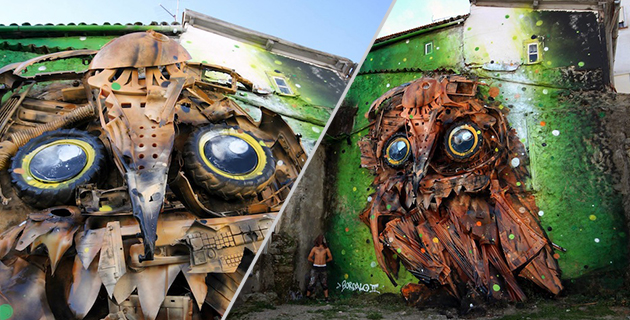 Recycled Street Art | Bordalo II