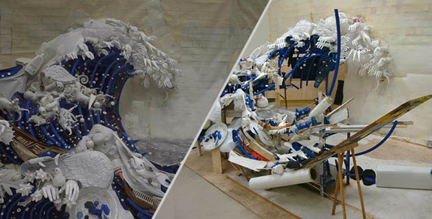 These Trash Piles are actually amazing anamorphic sculptures | Bernard Pras
