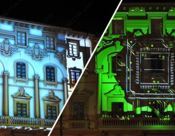 3D VIDEOMAPPING at Lucca Comics 2014 | Proietta