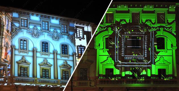 3D VIDEOMAPPING at Lucca Comics 2014 | Proietta