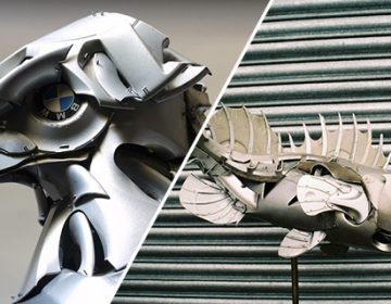 Amazing Hubcap Sculptures | Ptolemy Elrington
