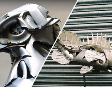 Amazing Hubcap Sculptures | Ptolemy Elrington