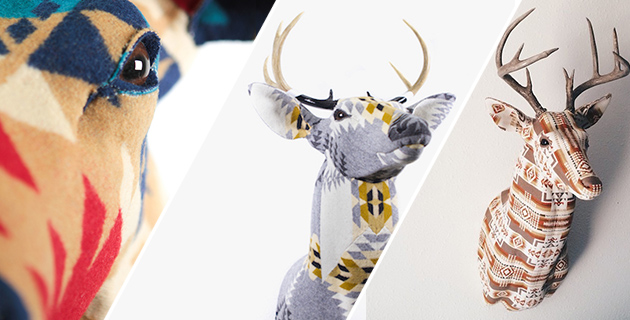 Modern Fabric Stag's Head | Chase Halland