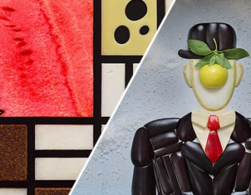 Famous images recreated with food | Tatiana Shkondina