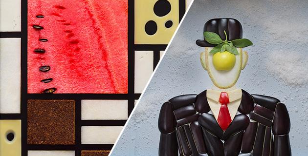Famous images recreated with food | Tatiana Shkondina