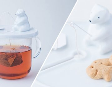 Polar Bear Goes Fishing Teabag Holder | Necktie