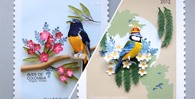 Bird stamps from around the world | Diana Beltran Herrera