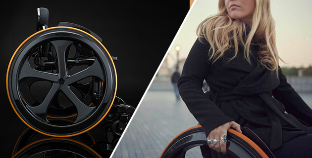 Super Stylish Carbon Fibre Wheelchair | Carbon Black