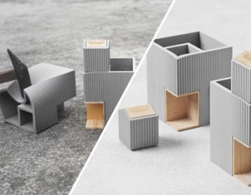 Soft faux concrete desk accessories | TripleLiving