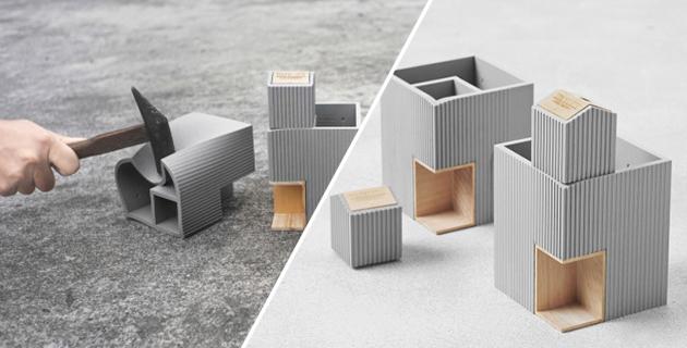 Soft faux concrete desk accessories | TripleLiving