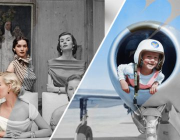 Animated GIFs show Colorize Vintage Black and White Photos