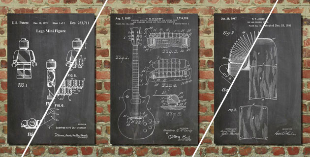 Posters of historical inventions | Patent Prints