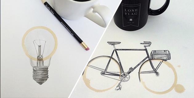 Coffee Stain Pencil Drawings   Carter Asmann
