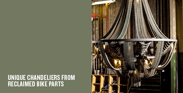 Unique chandeliers from reclaimed bike parts | Facaro