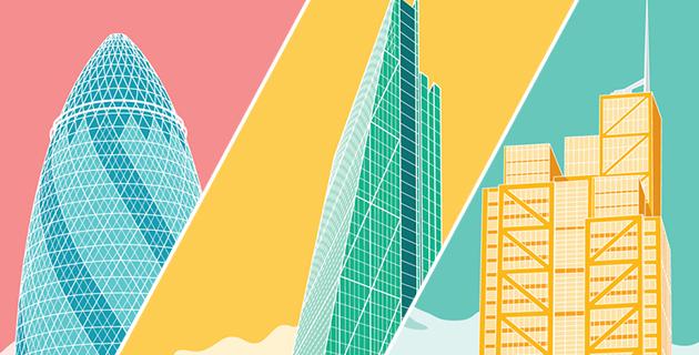 Pastel Skyscrapers | Joshua Clarke