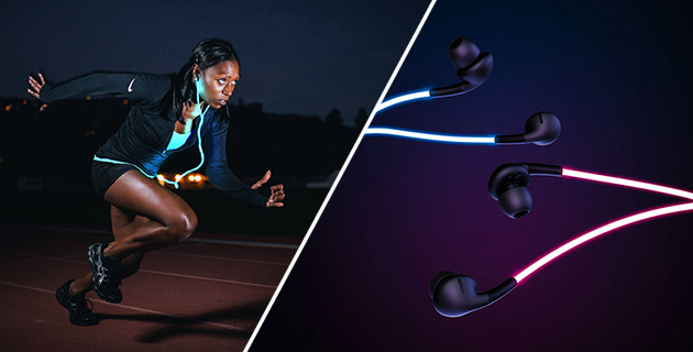 Colourful Laser Light Headphones | Glow