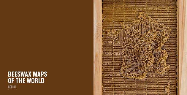 Beeswax maps of the world | Ren Ri