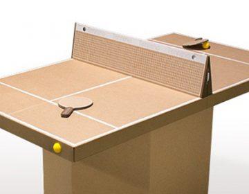 Cardboard table tennis | Kickpack
