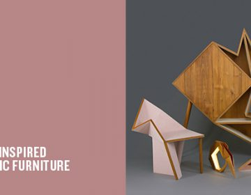 Origami-inspired geometric furniture | Aljoud Lootah