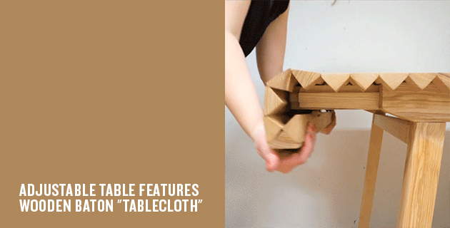 Wooden Cloth table | Nathalie Dackelid