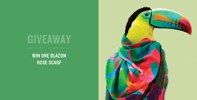 Giveaway: Win a Colourful Blazon Scarf