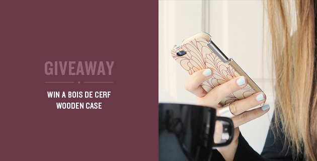 Giveaway: Win a Bois de Cerf Wooden Case