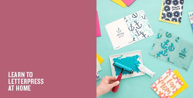 Home Letterpress Kit | Brit + Co