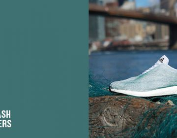 Recycled plastic footwear | Adidas and Parley