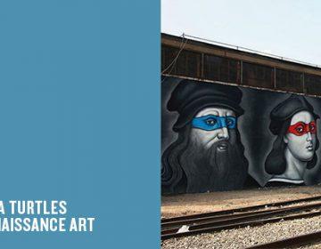 Renaissance Ninja Turtle Mural | Owen Dippie