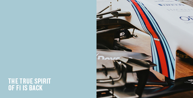 Martini brings back glamour to F1