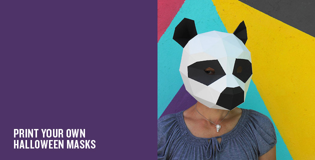 Geometric Halloween Masks | Wintercroft