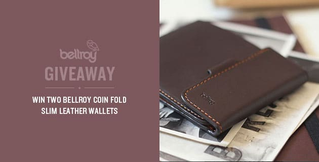 Giveaway: 2 Bellroy Coin Fold Slim Leather Wallets